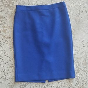 J. Crew No.2 Wool Pencil Skirt Sz8 Royal Blue